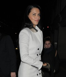 Adriana Lima - Arriving to Nobu in London 12/12/13