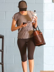 Emmy Rossum - leaving the gym in Beverly Hills 12/21/13