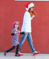 Alyson Hannigan - out in West Hollywood 12/24/13