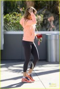 Ashley Tisdale - Going to workout 12/24/13