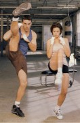 Catherine Bell - 1998 Darien Davis Photoshoot (shorts/leggy)
