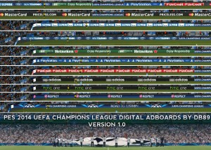 PES UCL 2014 Digital Adboards by db89