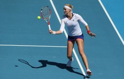 Kristina Mladenovic - 2014 Moorilla Hobart International 1/8/14