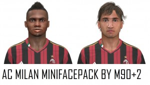 Download AC Milan MiniFacepack For PES2014 by M90+2