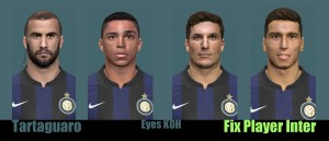 PES 2014 Fix Face Player Inter by Tartaguaro