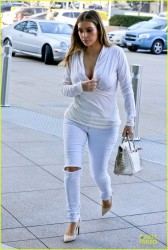 Kim Kardashian - Arriving to a meeting in Century City 1/10/14