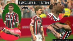 PES 2014 Rafael Sóbis Face v1.1 + Tattoo by Ong