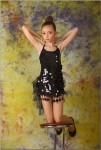 Tmtv Daria M Model Black Shiny Dress Pictures