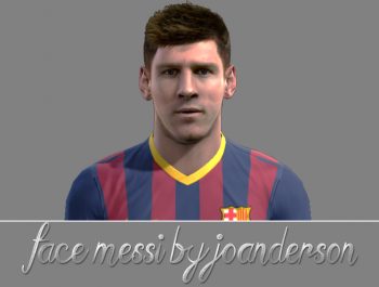 PES 2013 New Face Lionel Messi by jo7facemakaer