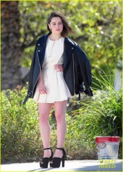 Emilia Clarke - On set of a photoshoot in LA 1/16/14