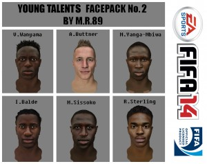 FIFA 14 Young Talents Facepack vol.2 by M.R.89