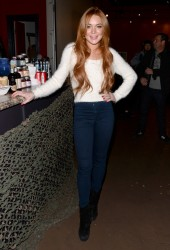 Lindsay Lohan - at a press conference in Park City 1/20/14
