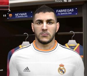 Karim Benzema PES2014 Face By DzGeNiO