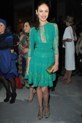 Olga Kurylenko - Elie Saab fashion show in Paris 1/22/14