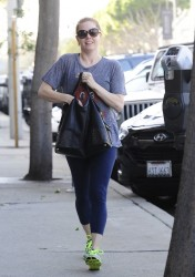 Amy Adams - Leaving the gym in West Hollywood 1/22/14