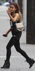 Ariana Grande - Going to a recording studio in LA 1/22/14