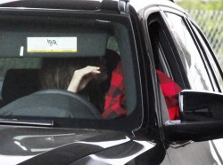 Selena Gomez - Jack in the Box drive-thru in LA 1/24/14