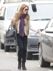 Elizabeth Hurley - out in London 1/24/14