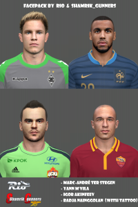 Facepack by Rio & shamrik_gunners For PES 2014