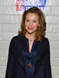 Alyssa Milano - Hollywood Stands Up To Cancer event in Culver City 1/28/14