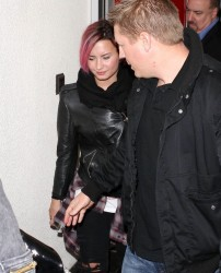 Demi Lovato - at LAX Airport 1/30/14