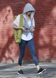 Charlize Theron - leaving yoga class in West Hollywood 1/31/14