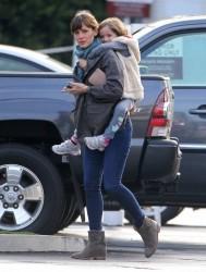 Jennifer Garner - out in Brentwood 2/6/14