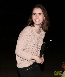 Lily Collins - Leaving Craigs in LA 2/5/14