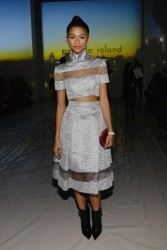 Zendaya Coleman - At the Pamella Roland Fashion Show in NYC 2/11/14