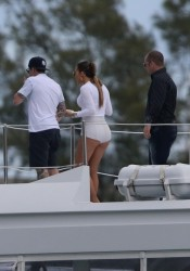Jennifer Lopez - Filming new music video on a Yacht in Miami 2/12/14