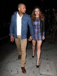 Kelly Brook - at 1 OAK nightclub in West Hollywood 2/13/14