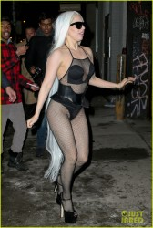 Lady Gaga - Wearing A Revealing Outfit in NYC 2/17/14