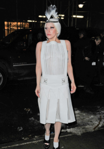 Lady Gaga - Arriving to the Quality Meats restaurant in NYC 2/18/14