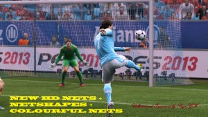 pes 2013 New HD Netsa and Netshapes and Colourful Nets by SergiGK