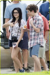 Ariel Winter filming Modern Family in Sydney 2/19/14