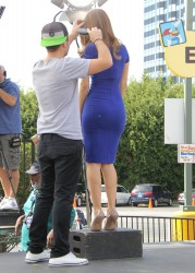 Maria Menounos - on the set of Extra in Universal City 2/20/14