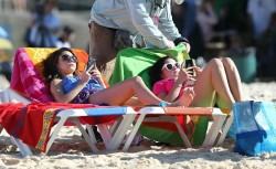 Sarah Hyland & Ariel Winter at Bondi Beach in Sydney 2/21/14