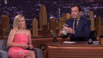 REESE WITHERSPOON - PINK DRESS - Fallon 02.24.14