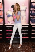 Behati Prinsloo - T Shirt Bra Launch at Victoria's Secret in NYC 2/25/14