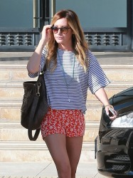 Ashley Tisdale - Shopping in Beverly Hills 2/25/14