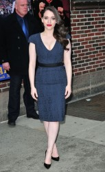 Kat Dennings - Arriving to 'The Late Show with David Letterman' in NYC 2/25/14