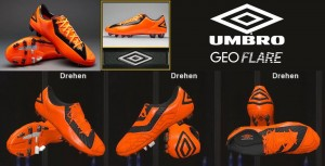 Download PES 2014 Umbro GeoFLARE Pro FG - Orange/Black