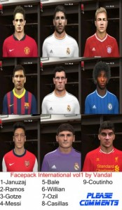 Download PES 2014 Facepack International Vol.1 by Vandal