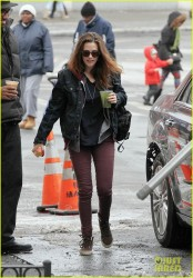 Kristen Stewart - On the set of 'Still Alice' in NYC 3/3/14
