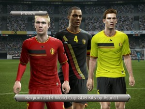 Download PES 2013 Belgium 2014 World Cup GDB Kits