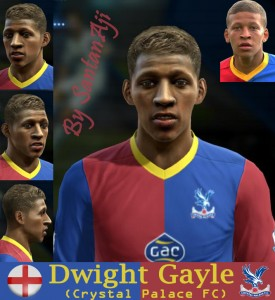 Download Dwight Gayle (Crystal Palace F.C.) Face by santanAji