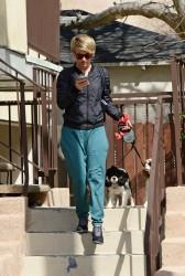 Julianne Hough - Walking her dogs in LA 3/10/14