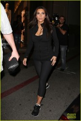 Kim Kardashian - Leaving Soul Cycle in Beverly Hills 3/10/14