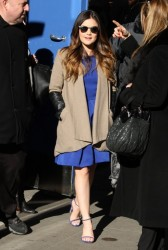 Lucy Hale - Arriving to 'Good Morning America' in NYC 3/18/14