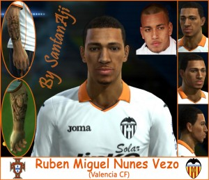 Download PES 2013 Ruben Vezo Face by santanAji
